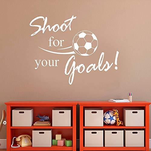 Pegatinas de pared para la familia de la sala de estar, arte del tatuaje de la pared, juego de fútbol para sus letras de palabras de meta 73x57cm