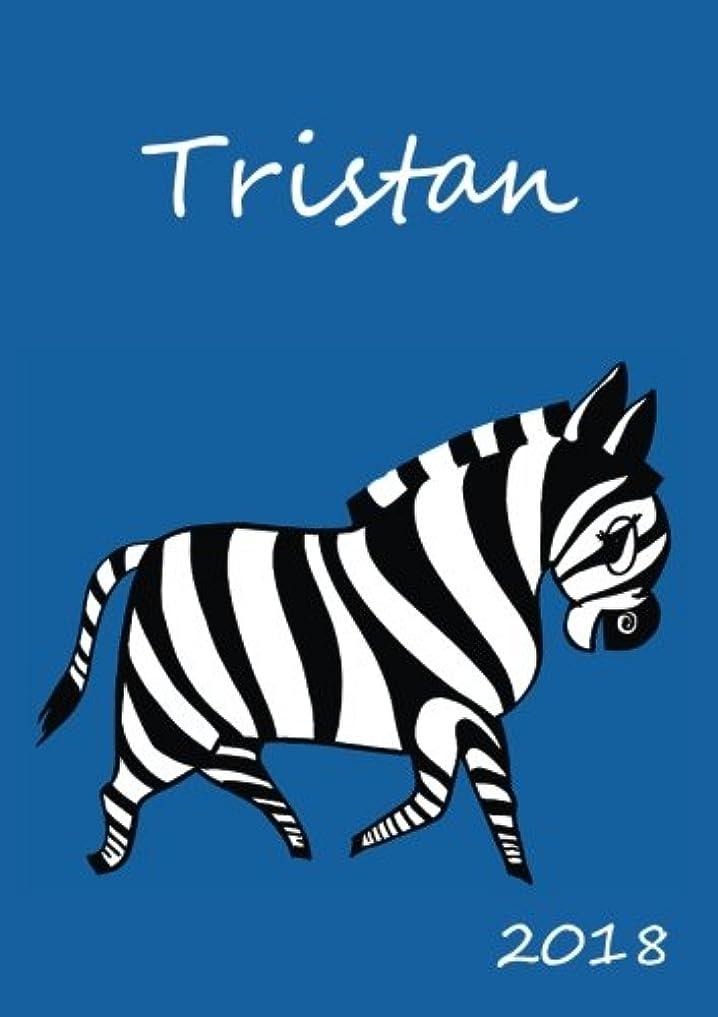 肉腫反毒ビジター2018: personalisierter Zebra-Kalender 2018 - Tristan - DIN A5 - eine Woche pro Doppelseite