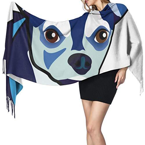 Cara de perro 3 1096 Bufanda de mujer Bufandas de moda Cálido abrigo Chal Cape Regalo de Navidad para madre novia hermana