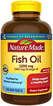 Nature Made Fish Oil 1200mg, 150 Softgels Value Size, Fish Oil Omega 3 Supplement For Heart Health