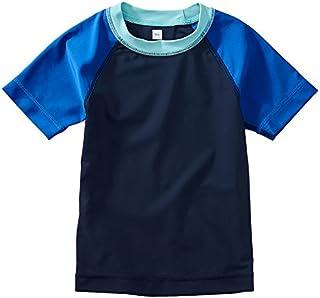 [ティコレクション] 子供服 キッズ 半袖 ラッシュガード 水着 男の子 ボーイズ インポート UPF40+ ラグラン 8S22604R-405