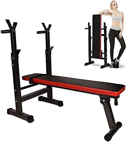 EPYFFJH Home fitness multi-funzione palestra pesi panchina pressa panchine regolabili banchi di formazione pesi panchina pieghevole fitness imast fitness equipaggiamento sollevamento petto stampa pale