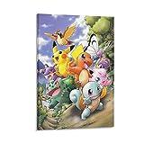 DIDIWEI Póster de Rugtas Pokémon sobre lienzo y póster de pared, impresión de imagen moderna para habitación familiar, 60 x 90 cm