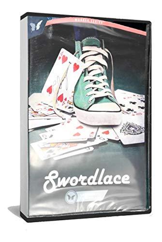 The Lord Of The Magic SWORDLACE. SansMinds. Carta En Cordón del Zapato. GIMMICK + DVD + Descarga + BARAJA Bicycle Gratis (Cordón Blanco)