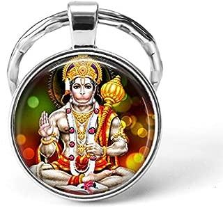 India Religion Key Chains God Brahma Lord Shiva Vishnu Jewelry Glass Cabochon Pendant Key Rings Keychain Fashion Jewelry