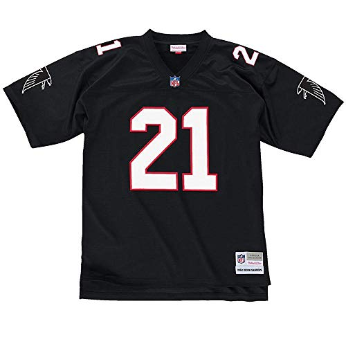 Deion Sanders Atlanta Falcons Mitchell and Ness Men's Black Throwback Jersey XX-Large