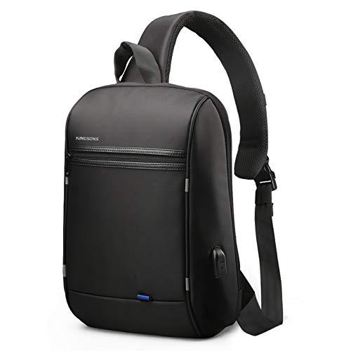 WINKING Sling Bag Mit USB Ladeanschluss Schulterrucksack Umhängetasche Crossbag Kamerarucksack mit verstellbarem Schultergurt Perfekt für Outdoorsport, Wandern, Radfahren, Bergsteigen, Reisen
