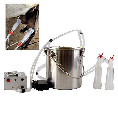 Futt 5L Single Bucket Piston Vacuum pulsation Milking Machine for Cows Cattle or Sheep Optional (sheep)