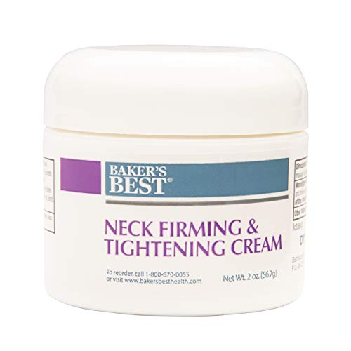 Baker's Best Neck Firming & Tightening Cream for Sagging and Crepey Skin | Anti-Wrinkle, Anti-Aging Cream for Neck, Decolletage - 2 Ounce