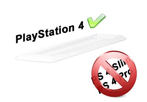 GAMINGER Supporto verticale per Sony PlayStation 4 (PS4) con piedini antiscivolo- design verticale deciso- bianco