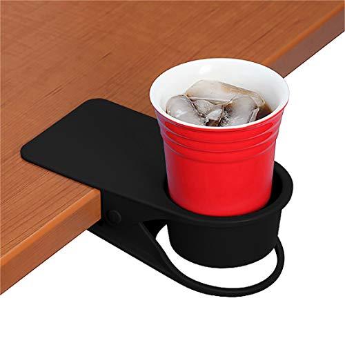 Ameolela Getränkehalter Clip – Tisch Schreibtisch Seite Wasserglas Bierflasche Tumbler Getränk Soda Tee Kaffee Tasse Halter Tasse Untertasse Clip Design für Home Office (schwarz)