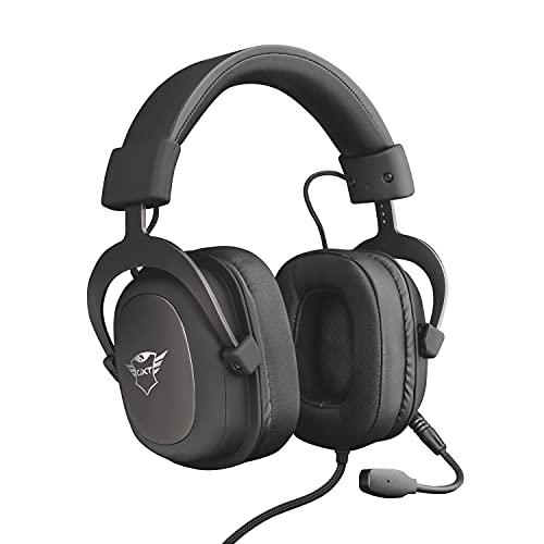 Oferta de Trust Cascos Gaming GXT 414 Zamak Auriculares Gamer con Micrófono Extraíble y Flexible y Diadema Ajustable, Cable Trenzado de 1 m, para PS4, PS5, PC, Nintendo Switch, Xbox One, Xbox Series X - Negro