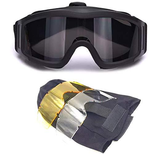 SchutzbrilleMilitärische Version der Outdoor-Brille Wüstenbrille Brille Anti-Nebel explosionsgeschützte Ausrüstung dreiteilige Installation