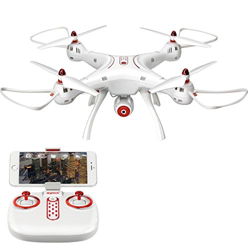 Goolsky Syma X8SW Wifi FPV 720P HD Drone 2.4G 4CH 6-Axis RC Quadcopter con barometro Set Altezza RTF