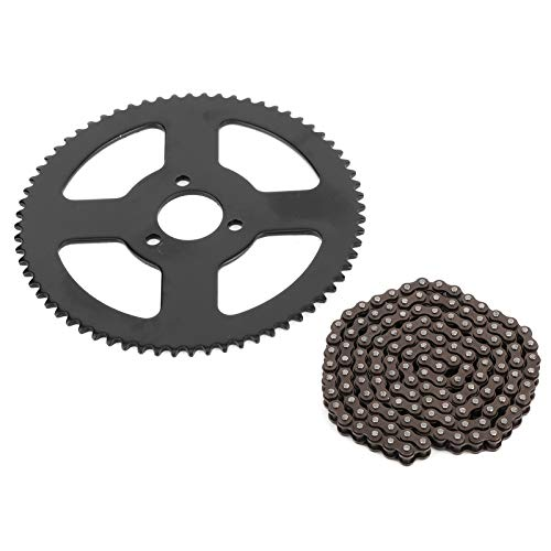 25H Kette 144 Glieder Kettenrad, Stahllegierung 144 Glieder 2-Takt Welle Mini Moto Ketten für elektrisches Dreirad, Mini Moto, Pocket Bike und ATV Quad