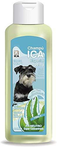ICA CHPM26 Champú 4 en 1 con Aloe Vera para Perros