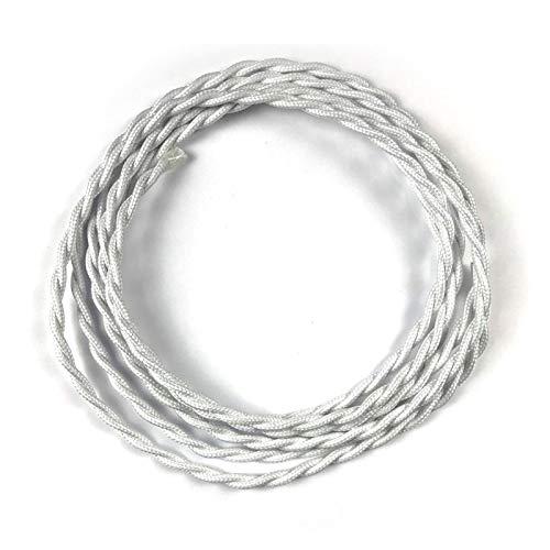 Cable Eléctrico Trenzado Recubierto en tejido 2x0,75 3 mt - TM01 Efecto...