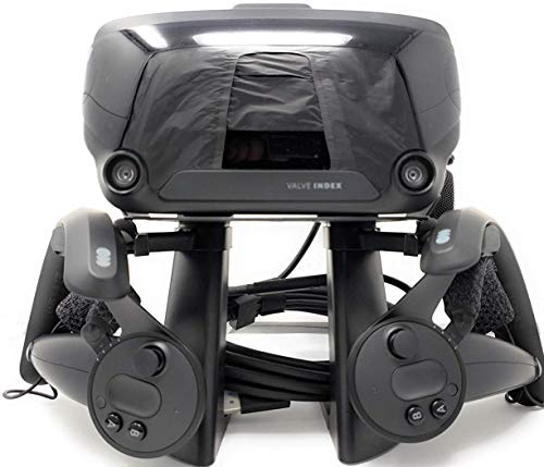 TNE VR Stand Headset Display Mount Station and Controller Holder for Steam Valve Index Virtual Reality Gaming System
