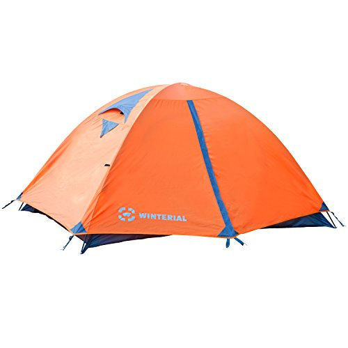Winterial 2 Person Tent, Easy Setup Lightweight Camping and Backpacking 3 Season Tent, Compact