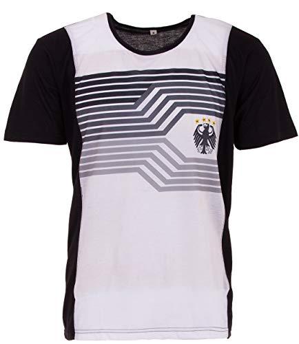 LUCKY WM 2018 Deutschland Streifen Fan Shirt Grau, Farbe:Grau, Größe:6XL