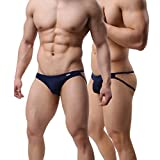 MuscleMate Hot Men's Thong G-String Men's Comfort Underwear Jockstrap Men's Hot Undie (L, Deep Blue)