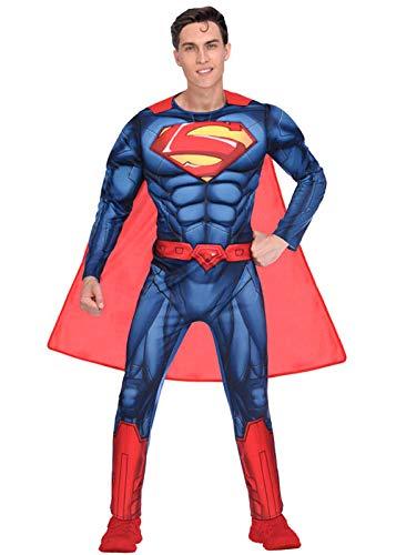 Amscan 9906101 Mens Classic Superman Warner Bros Fancy Dress Costume...