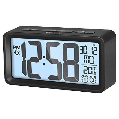 SENCOR wekker met thermometer, zwart, 1