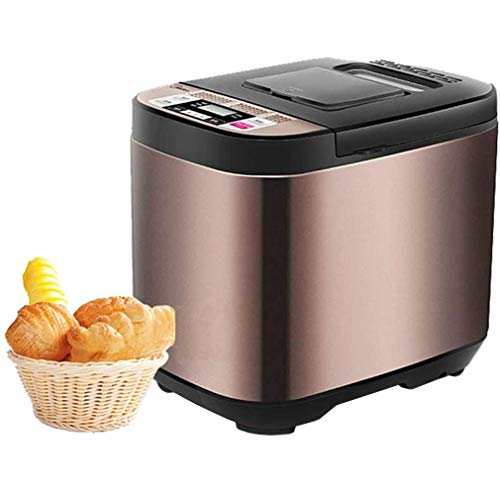 QINF Tealight 19 en 1Bread Machine, 580W Home Automatic Breakfast Gluten Free Bread Maker, Máquina para Hacer Pan pequeña multifunción con dispensador de Frutos Secos, Bandeja de cerámica antiadh