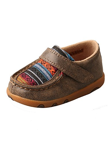 Twisted X Infant Driving Moccasins, Color: Bomber/Multi Serape, Size: 8, Width: M (ICA0004-8-M0