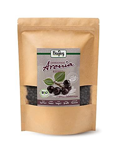 Biojoy Bacche di Aronia BIO, frutti di aronia interi, Aronia melanocarpa (1 kg)