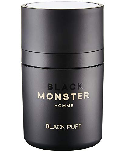 BLACK MONSTER Hair Powder, Black - Root Cover Up Hair Fibers, Filler, Loss Concealer for Thinning Hair and Bald Spots