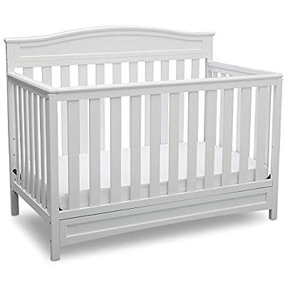 Delta Children Emery 4-in-1 Convertible Baby Crib, White by Delta Children