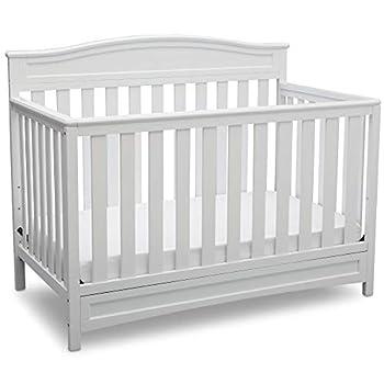 Delta Children Emery 4-in-1 Convertible Baby Crib White
