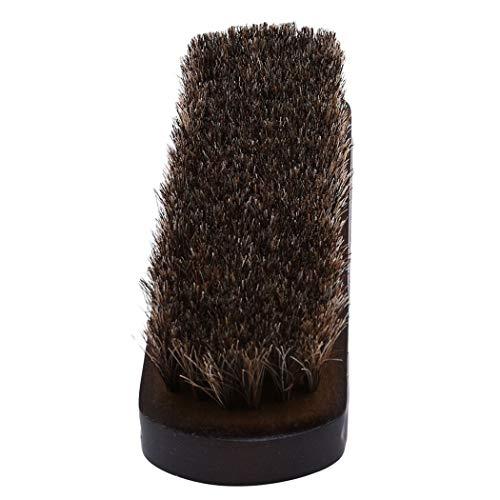 Ogquaton Cepillo de Pelo de Caballo Lustre para Zapatos Cuero Eliminación del Polvo Eliminación de Suciedad Cuidado de la Piel Ideal para Limpiar Productos de Piel Durabilidad de Trans