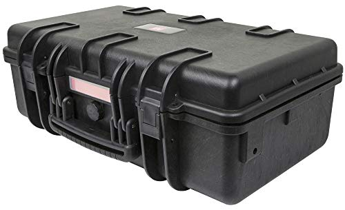 Monoprice Weatherproof / Shockproof Hard Case  Black IP67 level dust and water protection up to 1 meter depth with Customizable Foam 22quot x 14quot x 8quot