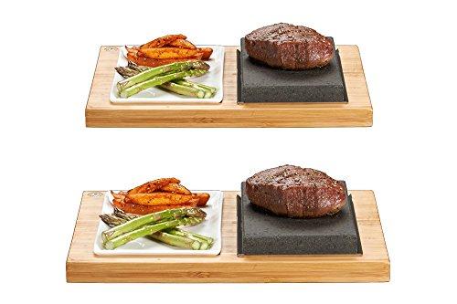 SteakStones Productos oficiales, ahorra 20 £ en dos juegos de The SteakStones Steak y Side Set, la mejor manera de disfrutar de filete en la piedra con la empresa líder mundial de cocina de piedra caliente