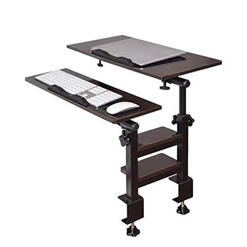 Roscloud@ Table d'ordinateur portable, bureau peut être 180 ° Flip et rotation à 360 °, la hauteur peut être ajustée librement, la table pliante est simple, convient pour l'étude de chambre Flexible e