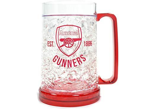 Wizzard Gifts Ltd Arsenal FC Gefrierschrank-Krug, klares Wappen