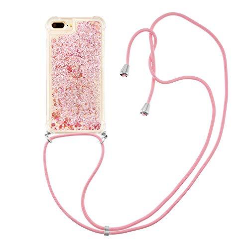 Carcasa líquida de silicona TPU antigolpes, para iPhone 6s Plus/6 Plus/7 Plus/8 Plus (oro rosa)