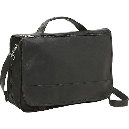 Le Donne Leather Expandable Messenger Bag, Black