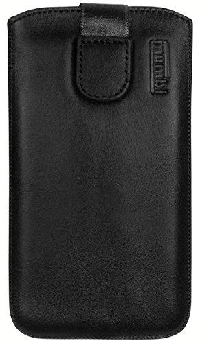 mumbi Echt Ledertasche kompatibel mit Sony Xperia XZ/XZs Hülle Leder Tasche Case Wallet, schwarz