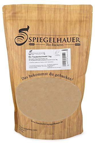Bio Traubenkernmehl 1 kg Traubenkerne extra fein zu Pulver vermahlen laktosefrei, glutenfrei - für natürliches Backen