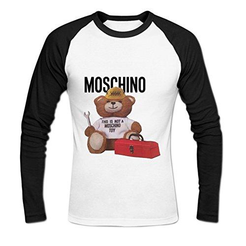 Men's Moschino Baseball Cotton T Shirt L White