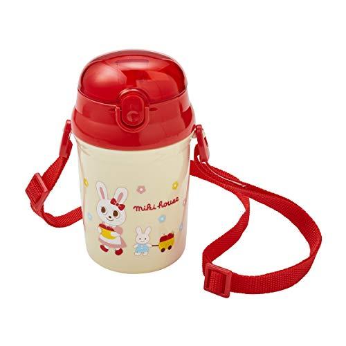 ミキハウス (MIKIHOUSE) ストローホッパー 15-4116-383 赤 女の子 水筒 ストロー付き キッズ 子供用 幼稚園 保育園 通園 マグボトル