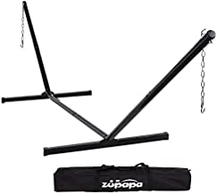 Zupapa Hammock Stand Fit for 12-15 Feet Hammock, 2 Person Heavy Duty 550 LBS Capacity with 2 Steel Chains 1 Carry Bag, Outdoor Indoor Use Steel Hammock Frame