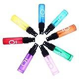 HEALLILY 8 Uds. 10Ml Botellas de Rodillo de Aceite Esencial Frascos de Muestra de Perfume Botella de Loción Cosmética de Maquillaje de Envase de Rodillo de Estilo Mixto