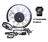 theebikemotor 3000W Hub Motor Electric Bike Conversion Kit + LCD+ Disc Brake Rear Wheel (26 4 Fat Wheel + 7 Speed Gear, 72V3000W + TFT Display)