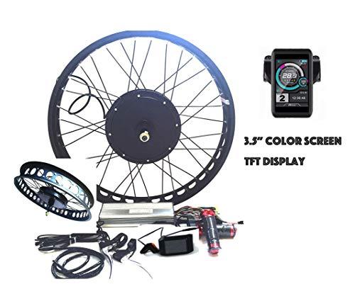 theebikemotor 3000W Hub Motor Bicicleta eléctrica Kit de conversión + LCD or TFT Display + Freno de Disco Rueda Trasera
