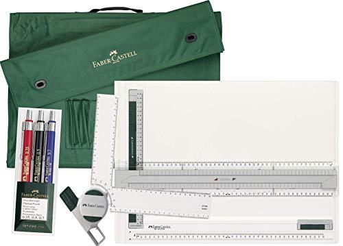 Faber-Castell Zeichenplatte A3 + Zeichenkopf + Tragetasche A3 + 3er Set Druckbleistifte
