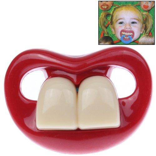 Lustiger Baby Kleinkinder Schnuller * Big-Teeth Zähne* 100% silicon von 6-36 Monate
